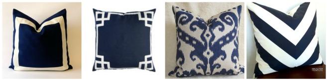 navy pillows