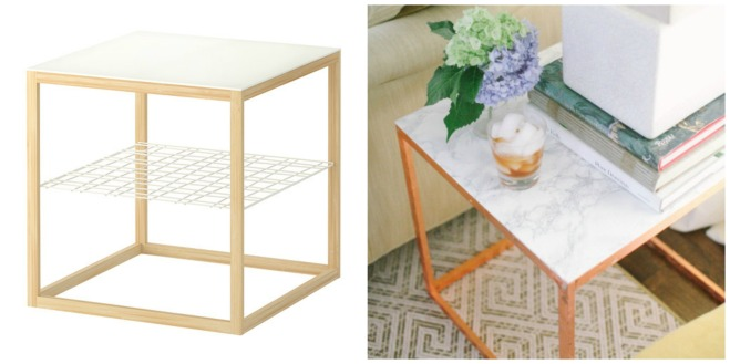 PicMonkey Collage side table