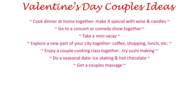 Valentine's Day Couples Ideas