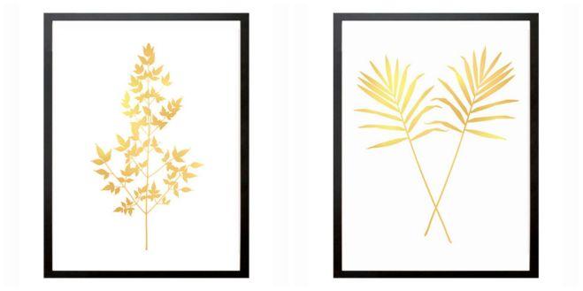 gold leaf art prints