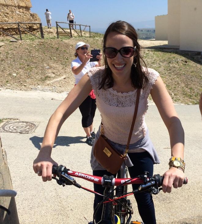 sicily alexis on bike