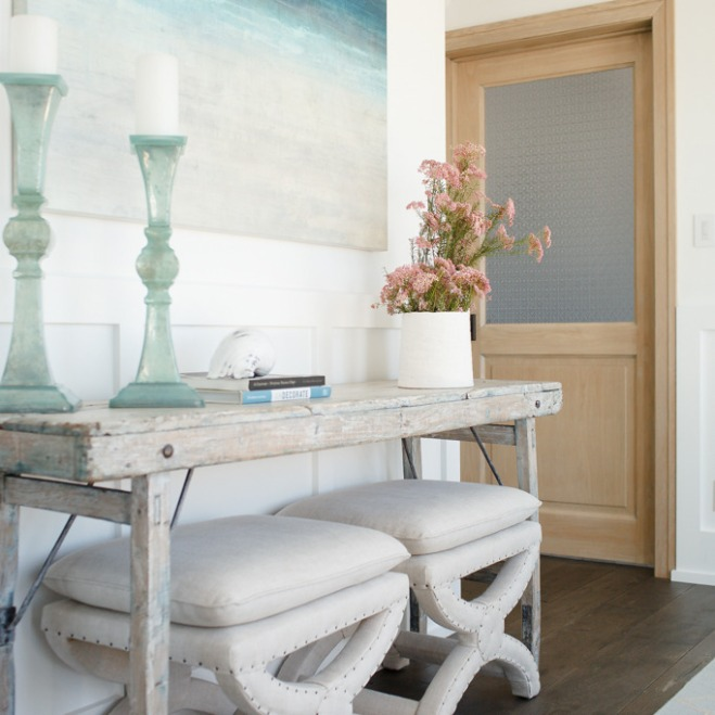 san clemente beach house entry way