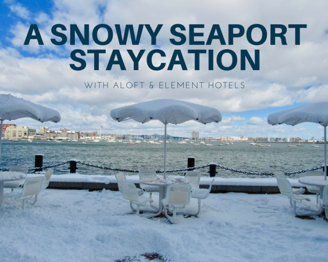 a snowy seaport staycation